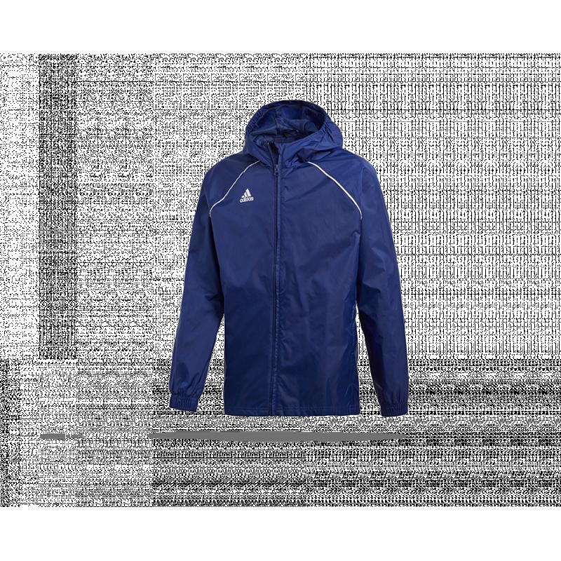 59241badae1e adidas Core 18 Rain Jacket Jacke Kinder (CV3742) in Blau