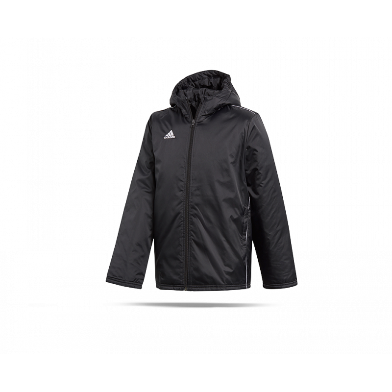 e8063173e24 adidas Core 18 Stadium Jacket Jacke Kinder (CE9058) - Schwarz