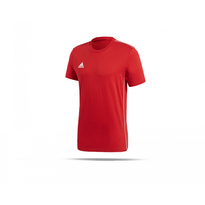 adidas core 18 tee t shirt cv3982 in rot. Black Bedroom Furniture Sets. Home Design Ideas
