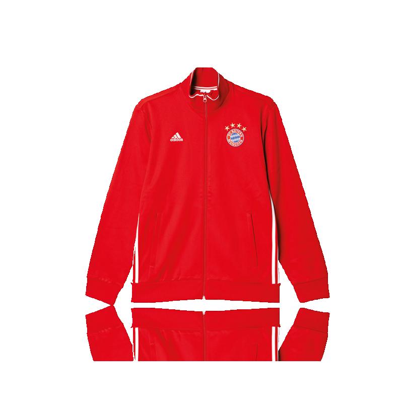 adidas FC Bayern München 3S Track Top Jacke (AP1655) - Rot