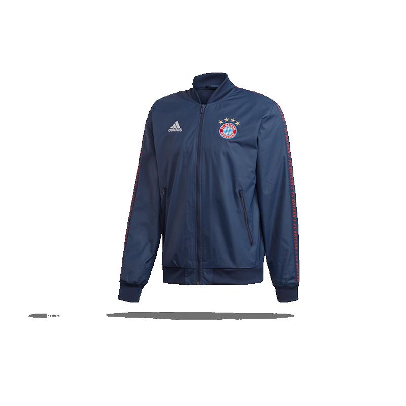 adidas FC Bayern München Anthem Jacke (DP4023) - Blau