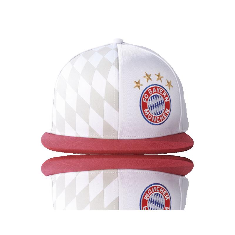 adidas FC Bayern München Flat Cap (S95118) - Weiß