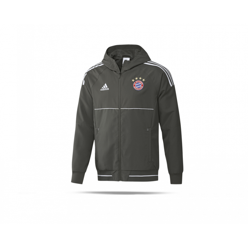 adidas fc bayern m nchen pr se jacke ucl bs4889 in grau. Black Bedroom Furniture Sets. Home Design Ideas