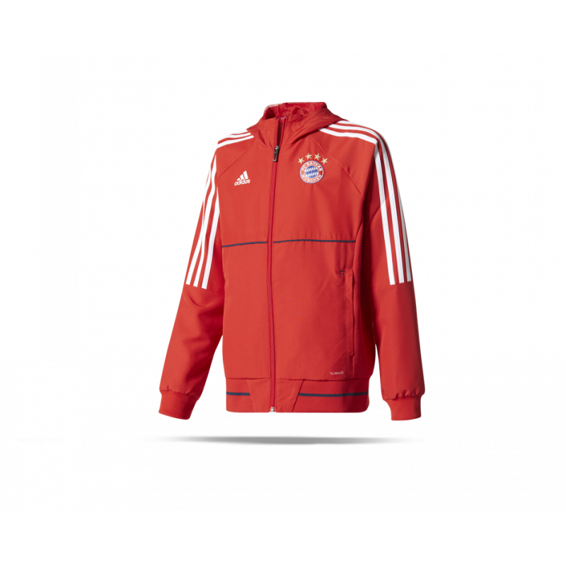 adidas fc bayern m nchen pr si jacke kinder bq6210 in rot. Black Bedroom Furniture Sets. Home Design Ideas