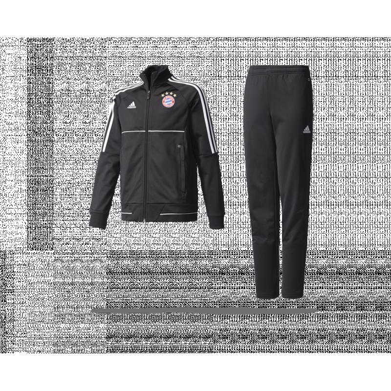 adidas fc bayern m nchen t anzug kinder bs4928 in schwarz. Black Bedroom Furniture Sets. Home Design Ideas