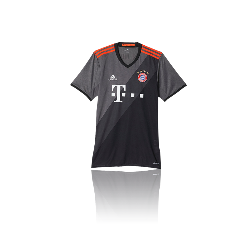adidas fc bayern m nchen trikot away 16 17 az4656 in grau. Black Bedroom Furniture Sets. Home Design Ideas