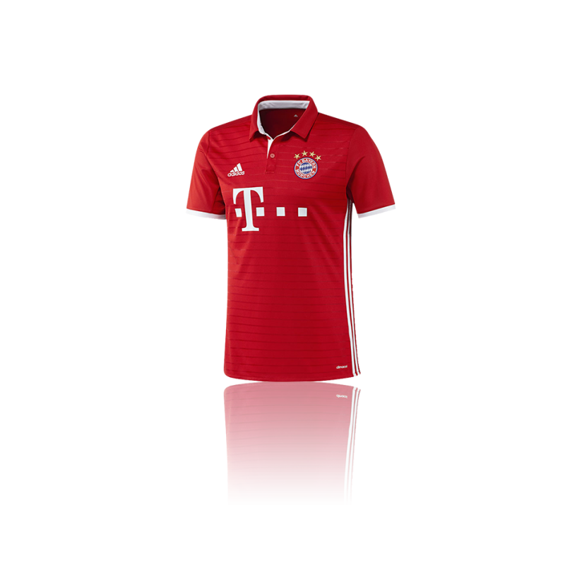 adidas fc bayern m nchen trikot home 16 17 ai0049 in rot. Black Bedroom Furniture Sets. Home Design Ideas