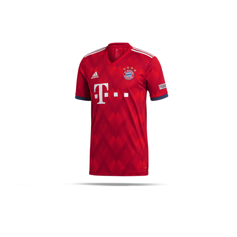 adidas fc bayern m nchen trikot home 18 19 cf5433 in rot. Black Bedroom Furniture Sets. Home Design Ideas