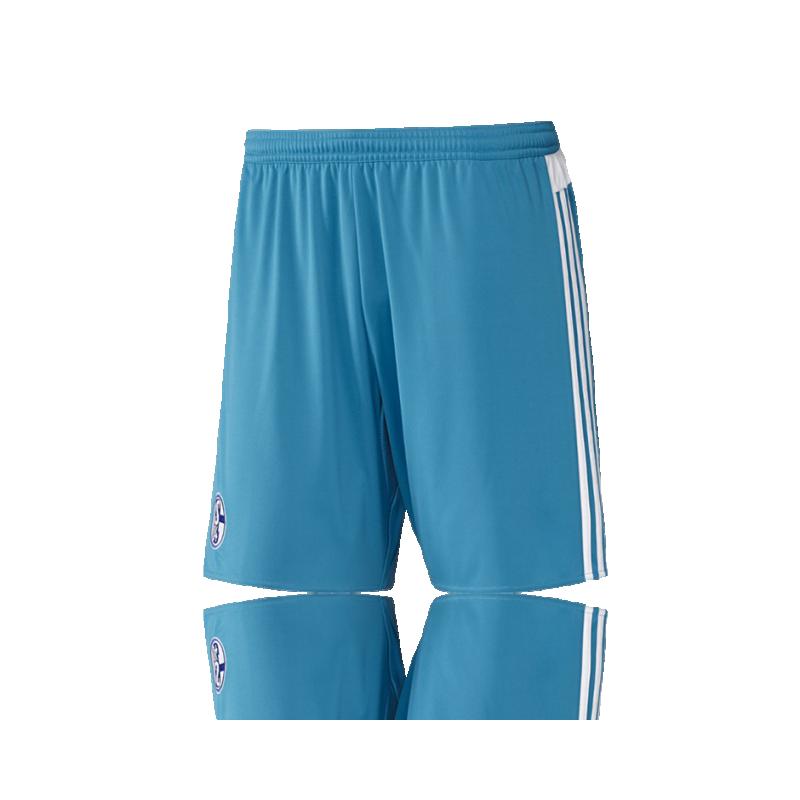 adidas FC Schalke 04 Short Away 16/17 (AA2439) - Blau
