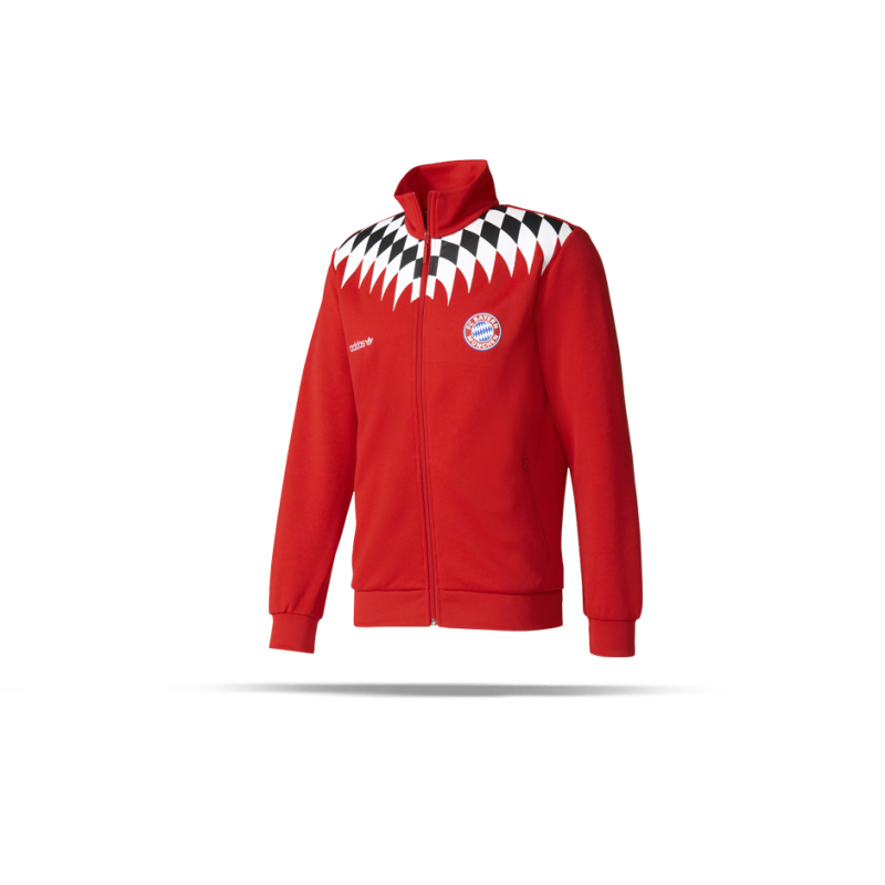 adidas originals fc bayern m nchen jacke bq3217 in rot. Black Bedroom Furniture Sets. Home Design Ideas