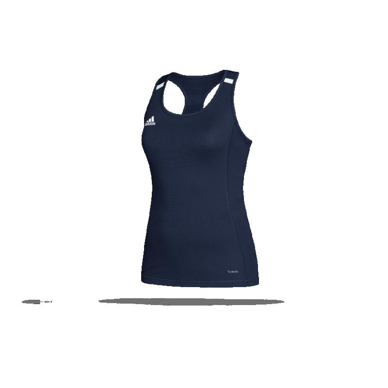 adidas team 19 tank top damen dy8869 in blau. Black Bedroom Furniture Sets. Home Design Ideas