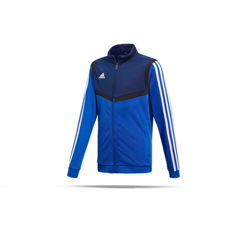 Adidas Tiro 19 Kinder Polyesterjacke bold blue weiß 152