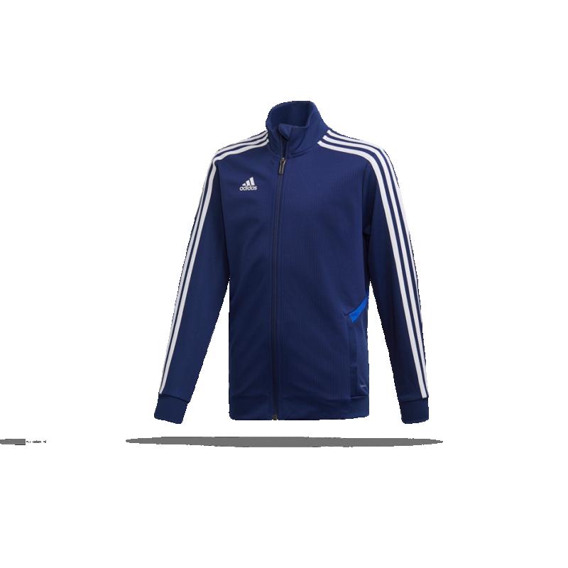 adidas Kinder Tiro 19 Trainingsjacke DunkelblauBold BlauWeiß