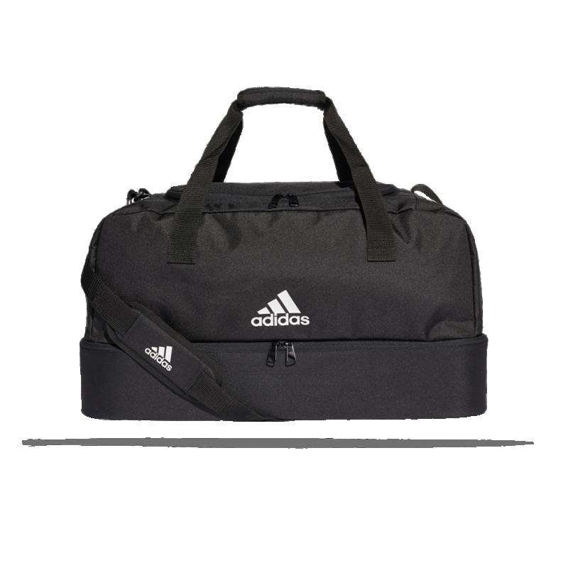 adidas Tiro Duffel Bag Tasche mit Bodenfach Gr. M (DQ1080) - Schwarz