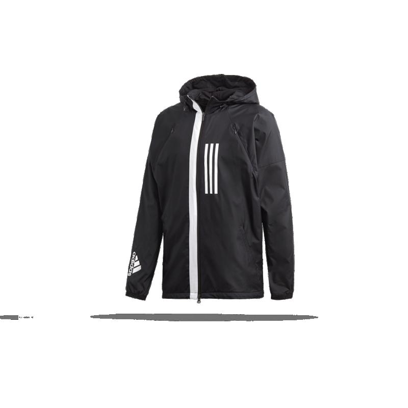 8d1728ed771315 adidas Wind Fleece Jacket Jacke (DZ0052) in Schwarz