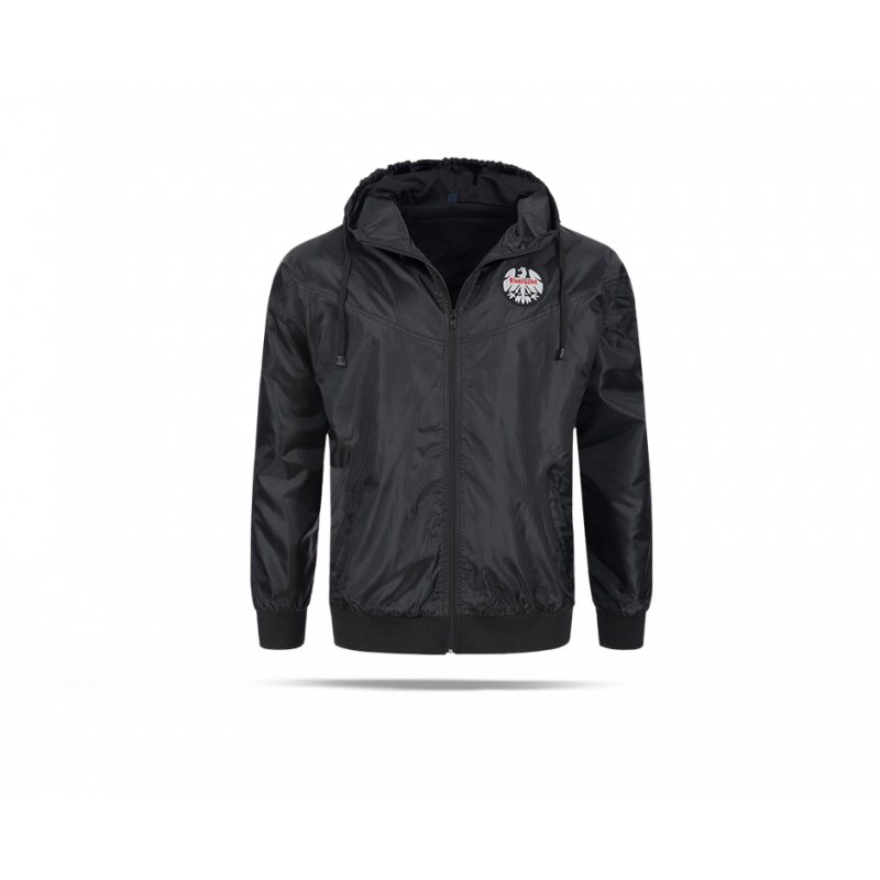 eintracht frankfurt 80er windbreaker jacke 0230071 in schw. Black Bedroom Furniture Sets. Home Design Ideas