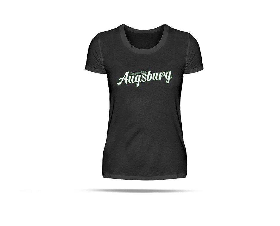 FC Augsburg T-Shirt Schriftzug Damen Weiss