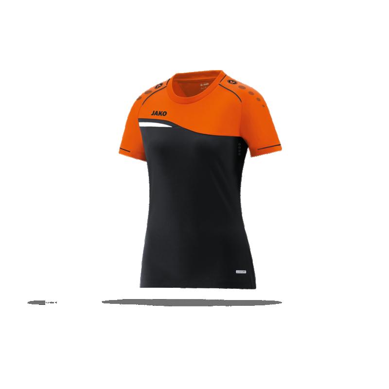 bc6c90e23b1b99 JAKO Competition 2.0 T-Shirt Damen (019) in Schwarz