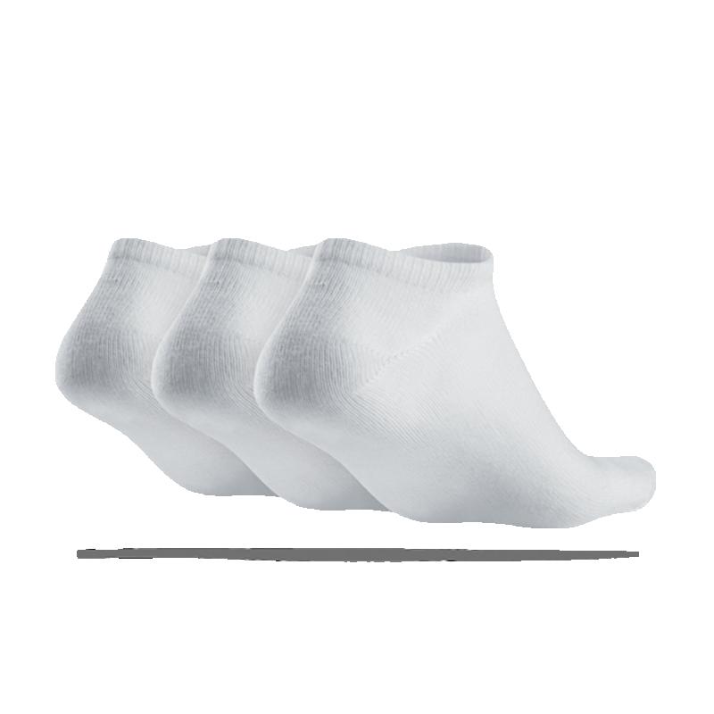 nike 3er pack socken f sslinge sneaker 101 in wei. Black Bedroom Furniture Sets. Home Design Ideas