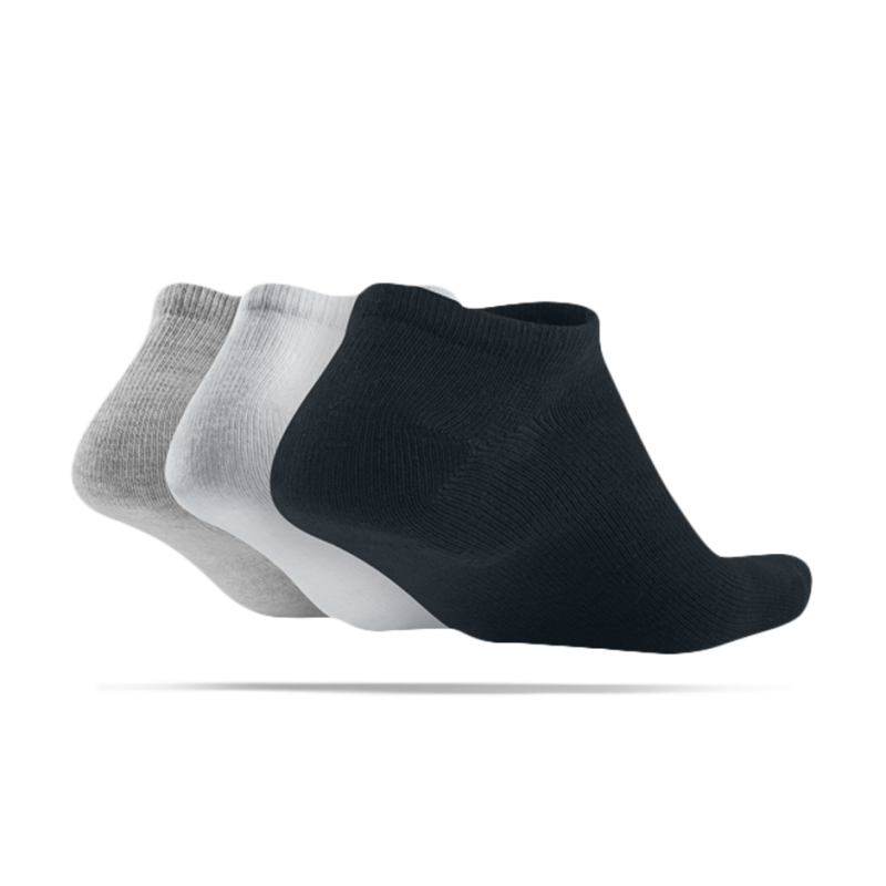 nike 3er pack socken f sslinge sneaker 901 in schwarz. Black Bedroom Furniture Sets. Home Design Ideas