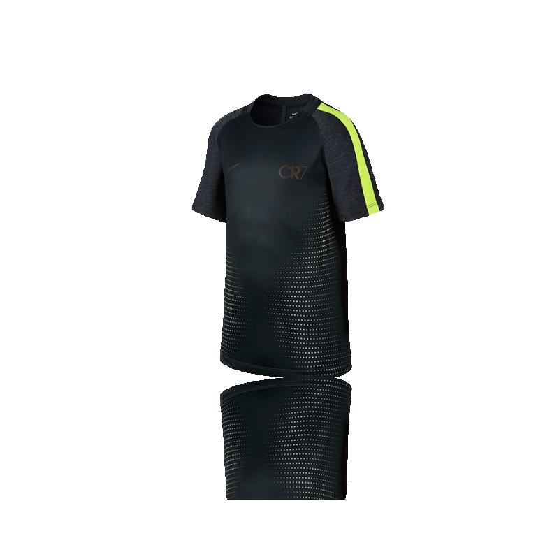 NIKE Dry CR7 Football Top Kurzarmshirt Kinder (364) - Grün