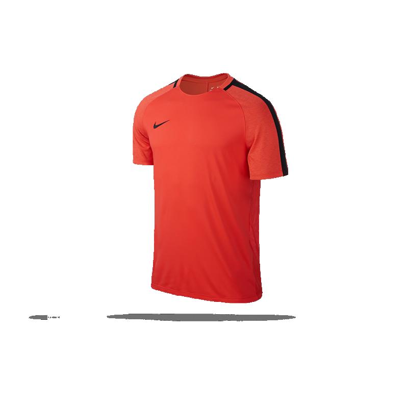nike dry nike squad football top tshirt 852 in orange