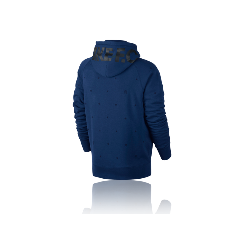 nike f c aw77 full zip hoodie blue 455 in blau. Black Bedroom Furniture Sets. Home Design Ideas
