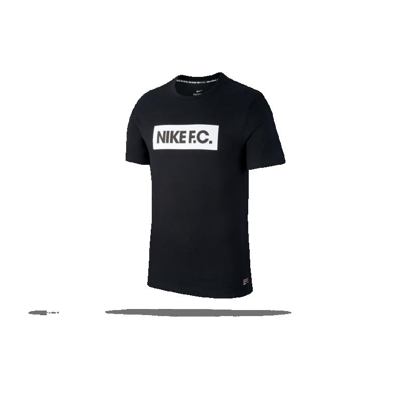 NIKE F.C. Block Tee T-Shirt (010) - Schwarz
