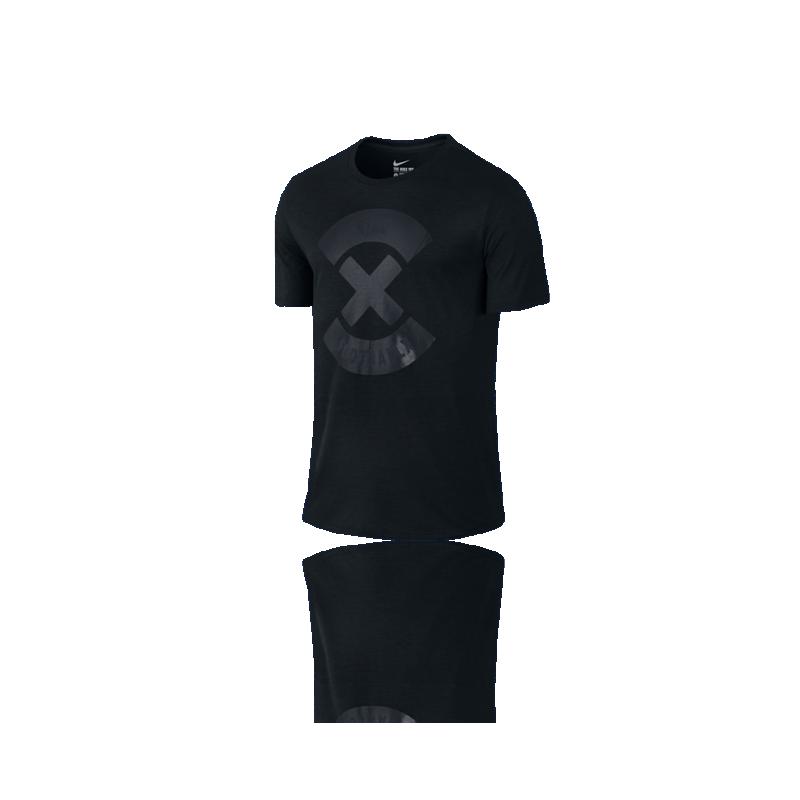 nike football x logo tshirt 010 in schwarz