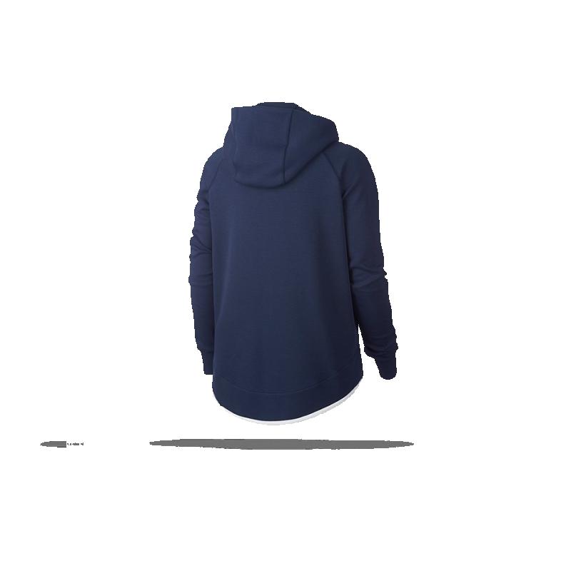 nike frankreich tech fleece poncho jacke damen 410 in blau. Black Bedroom Furniture Sets. Home Design Ideas