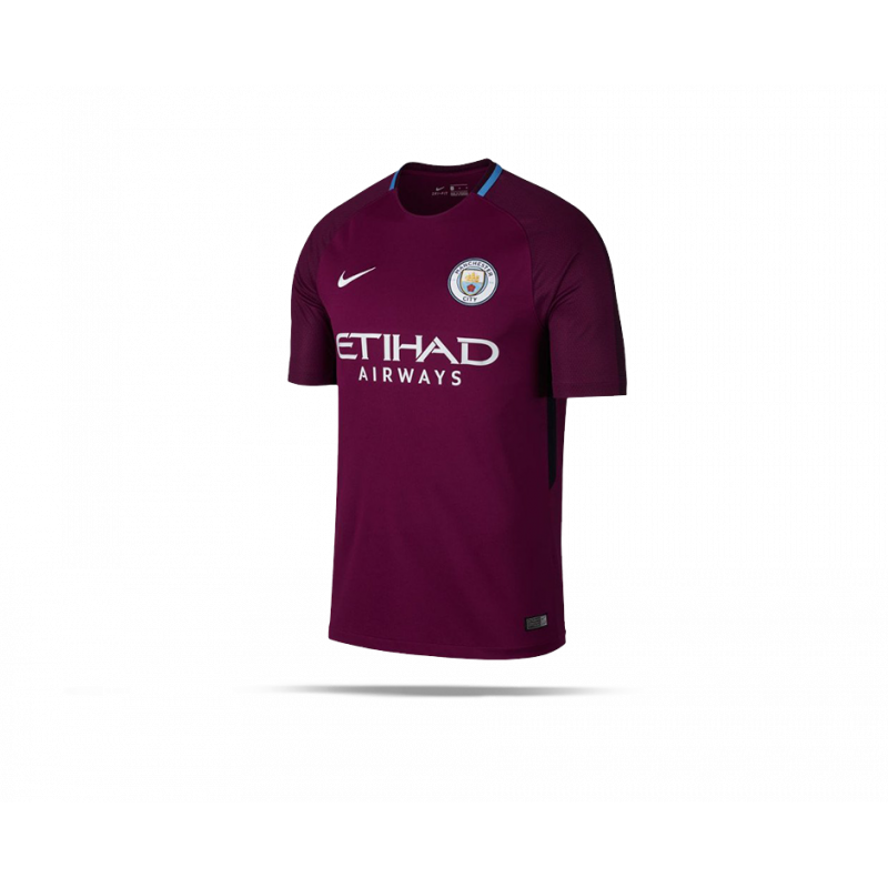 nike manchester city trikot away 2017 2018 667 in rot. Black Bedroom Furniture Sets. Home Design Ideas
