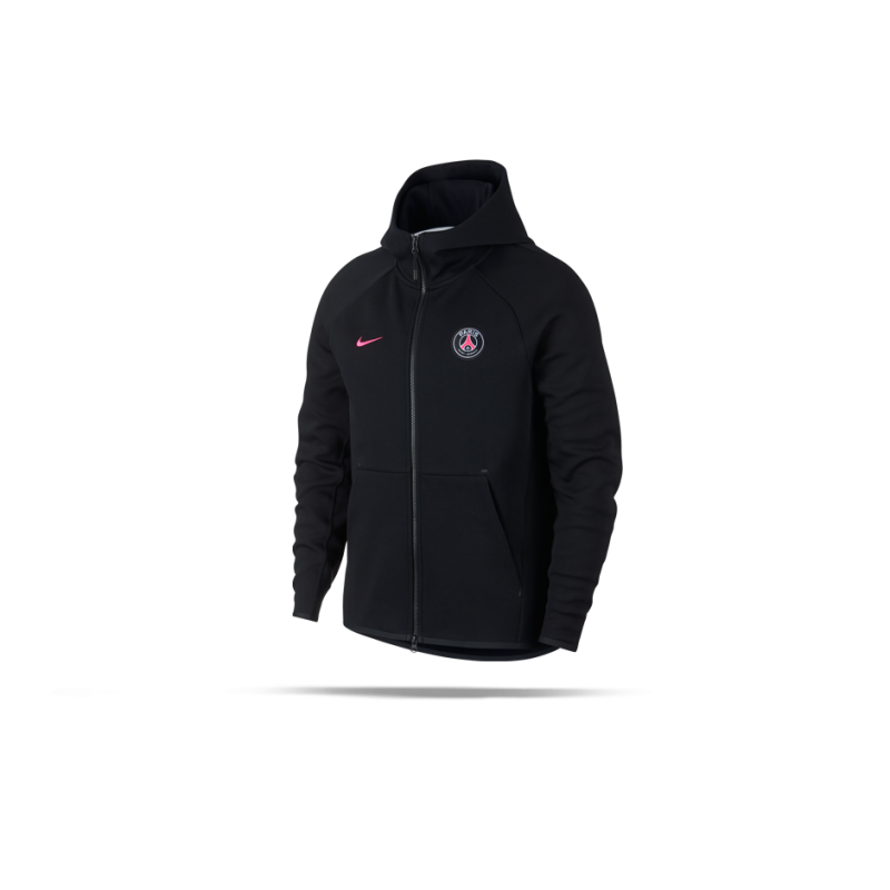 NIKE Paris St. Germain Tech Fleece Kapuzenjacke (010) - Schwarz