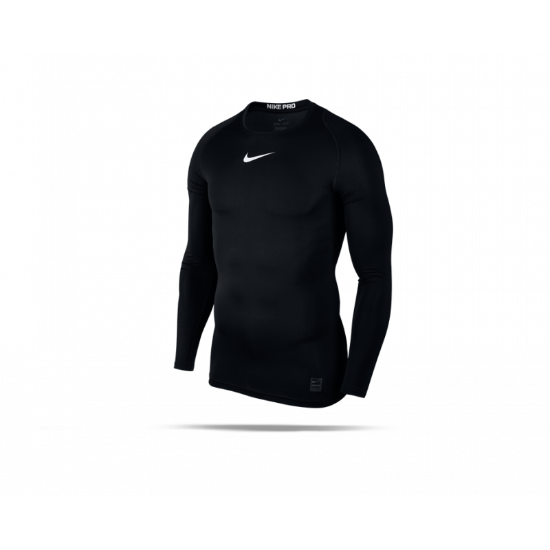 NIKE Pro Compression Longsleeve Shirt (010) - Schwarz