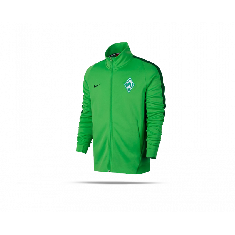 nike sv werder bremen authentic jacke 361 in gr n. Black Bedroom Furniture Sets. Home Design Ideas