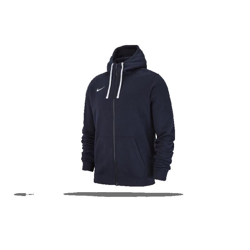 Nike Team Club Full Zip Hoody Kapuzenjacke dunkelblau