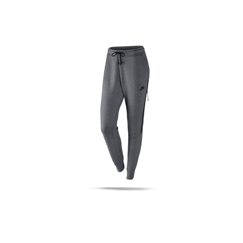 nike tech fleece pant hose lang damen 092 in grau. Black Bedroom Furniture Sets. Home Design Ideas