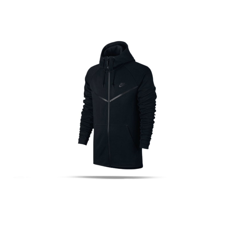 NIKE Tech Fleece Windrunner Kapuzenjacke (010) - Schwarz