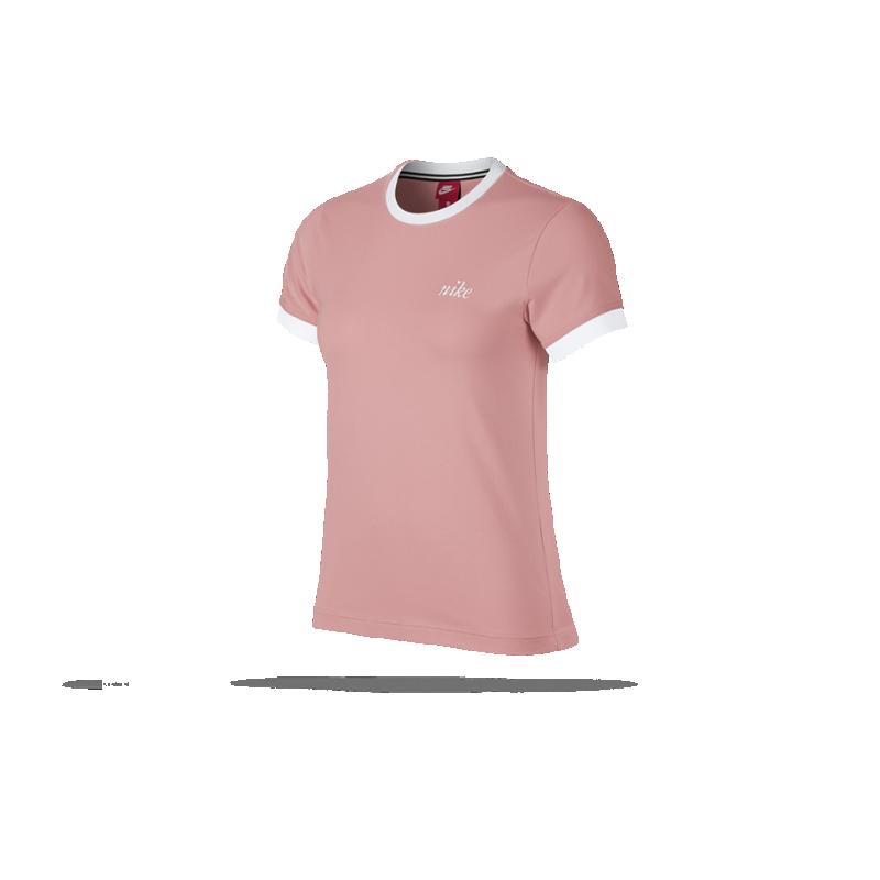 f19da19ab799d NIKE Top Ringer T-Shirt Damen (697) in Pink