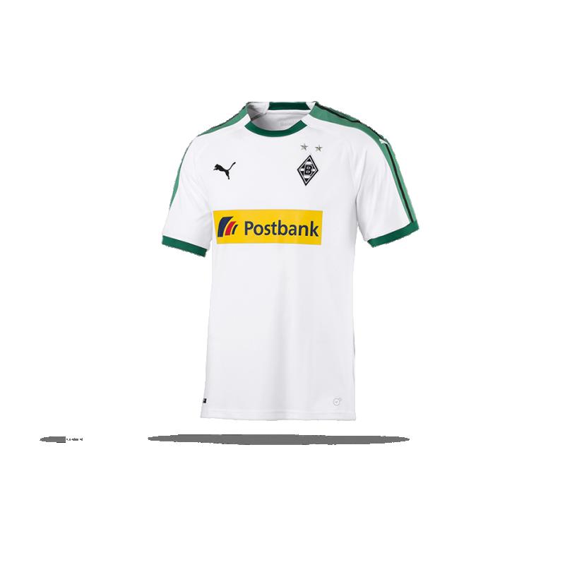 PUMA Borussia Mönchengladbach Trikot Home 18 19 (001) in Wei 01cec9606
