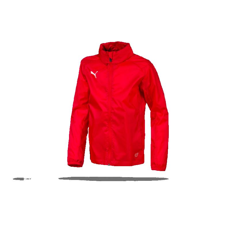 982c8363bf37 PUMA LIGA Training Rain Jacket Core Regenjacke Kinder (001) - Rot