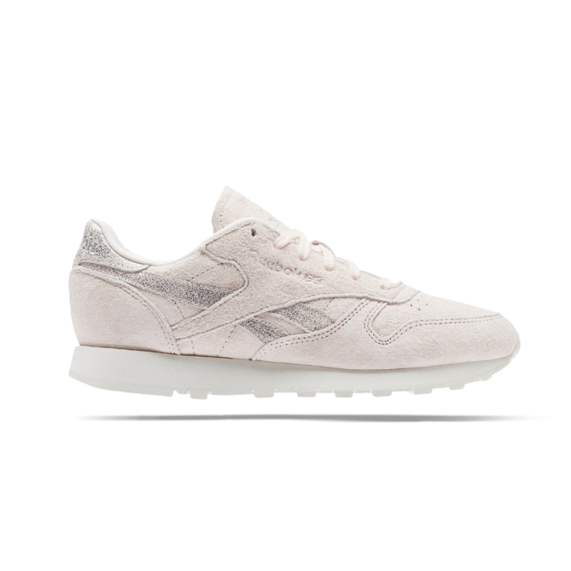 a29124f7983f2 REEBOK Classic Leather Shimmer Sneaker Damen (BS9865) in Pin