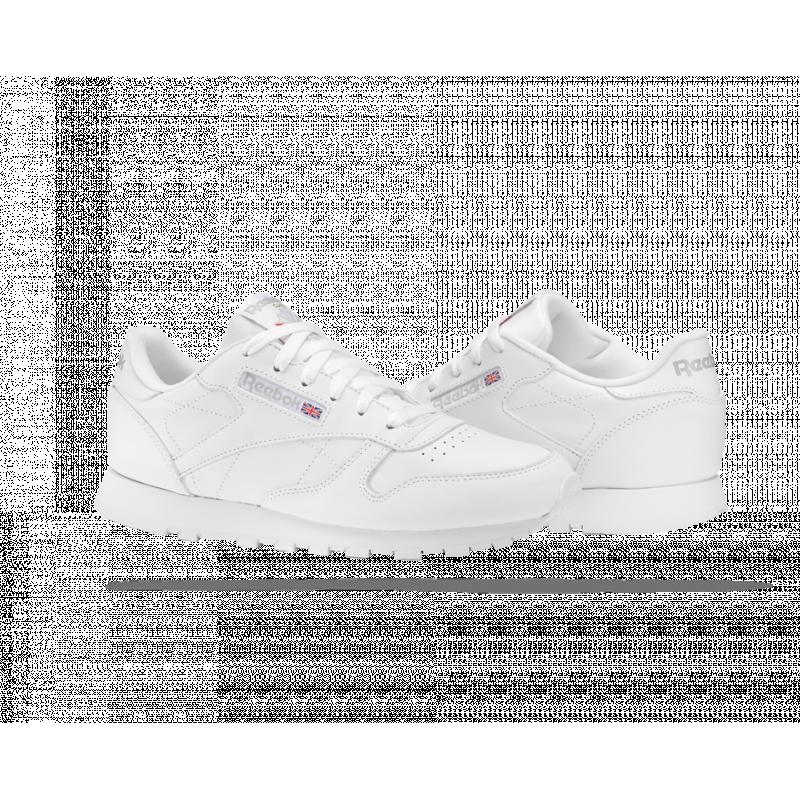 Sneakers aus Leder Weiß