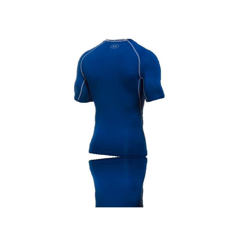 Under armour heatgear compression t shirt 400 in blau for Under armor heat gear t shirt