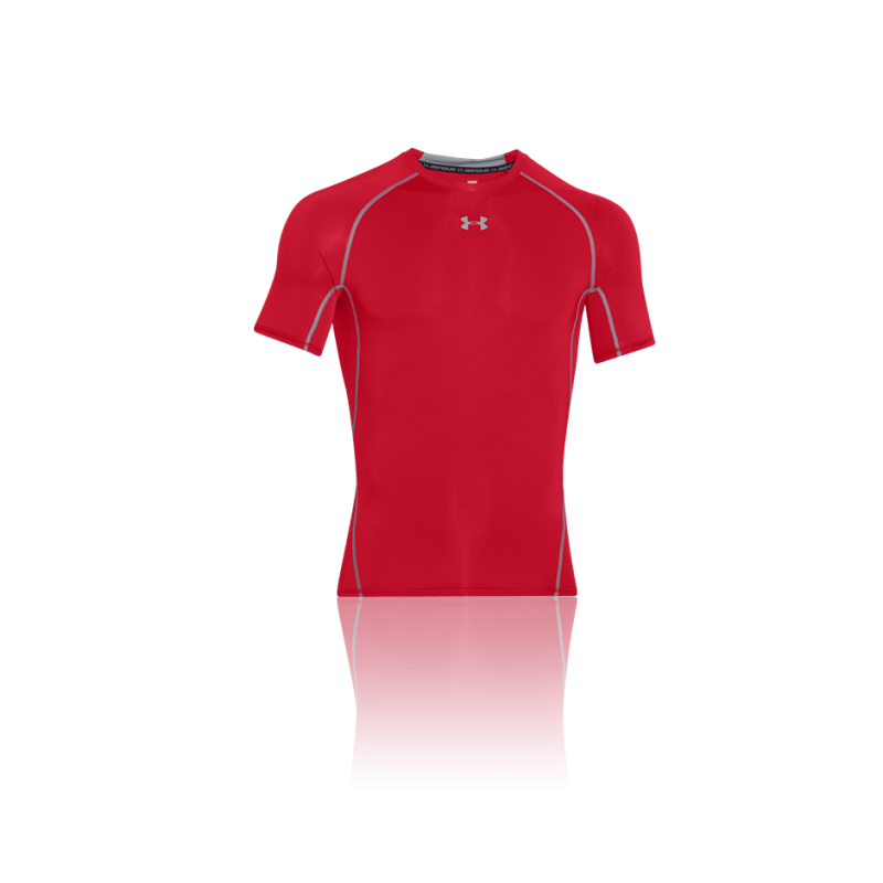 Under armour heatgear compression t shirt 600 in rot for Under armor heat gear t shirt