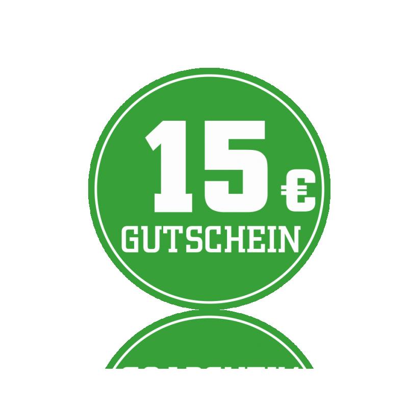 Wertgutschein 15 € -