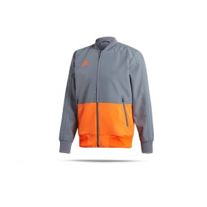 adidas-condivo-18-praesentationsjacke-grau-orange-fussball-teamsport-football-soccer-verein-cf4312.png