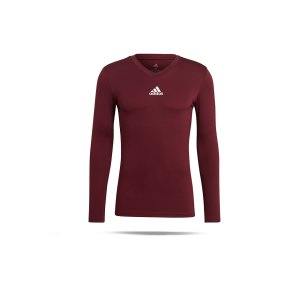 adidas-team-base-top-langarm-dunkelrot-gn7503-underwear_front.png