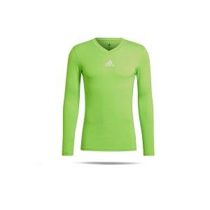 adidas-team-base-top-langarm-gruen-gn7505-underwear_front.png