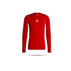 adidas-techfit-shirt-langarm-rot-gu7336-underwear_front.png
