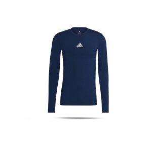 adidas-techfit-shirt-langarm-dunkelblau-gu7338-underwear_front.png